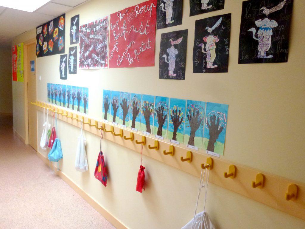 Les couloirs de l'école